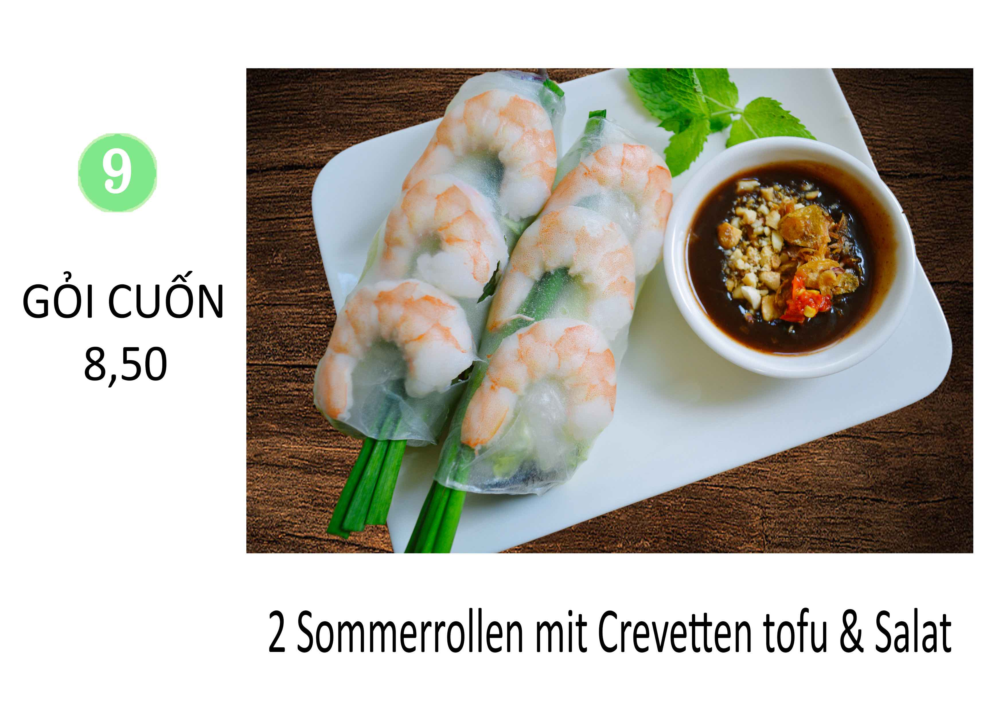 Sommerrollen mit Crevetten tofu